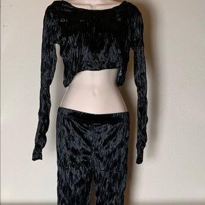 Killstar velvet crop top and leggings